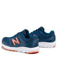 New Balance - Sneakersy NEW BALANCE - YK570BO2 Granatowy. Okazja: na uczelnię, na spacer, na co dzień. Kolor: niebieski. Materiał: skóra, materiał. Szerokość cholewki: normalna. Styl: casual