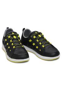 Musto - Buty MUSTO - Nautic Speed 80527 Black 991. Kolor: czarny. Materiał: skóra, materiał