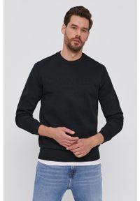 Calvin Klein - Bluza. Okazja: na co dzień. Kolor: czarny. Materiał: dzianina. Wzór: gładki. Styl: casual
