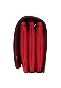 Czerwona listonoszka Gabor w kolorowe wzory