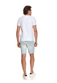 TOP SECRET - T-shirt z nadrukiem. Kolor: biały. Materiał: bawełna, tkanina. Długość rękawa: krótki rękaw. Długość: krótkie. Wzór: nadruk. Sezon: lato. Styl: wakacyjny, klasyczny
