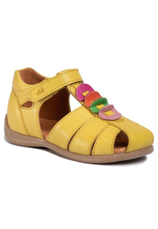 Żółte sandały Froddo na co dzień, z aplikacjami