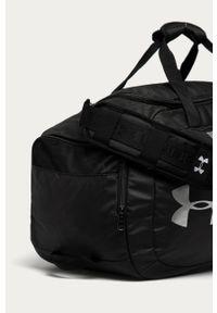 Szara torba podróżna Under Armour sportowa, z nadrukiem