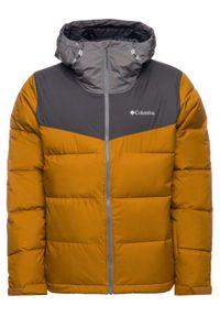 Pomarańczowa kurtka sportowa columbia narciarska