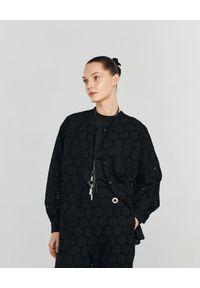 ANIA KUCZYŃSKA - Koszula z bawełnianej koronki Tramontana. Kolor: czarny. Materiał: koronka, bawełna. Wzór: koronka. Sezon: lato. Styl: klasyczny