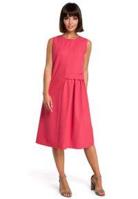 Różowa sukienka letnia MOE midi
