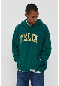 Levi's® - Levi's - Bluza bawełniana x Felix The Cat. Okazja: na spotkanie biznesowe. Typ kołnierza: kaptur. Kolor: zielony. Materiał: bawełna. Wzór: aplikacja. Styl: biznesowy