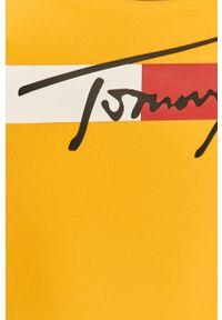Żółty strój kąpielowy TOMMY HILFIGER z nadrukiem