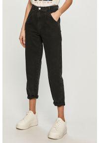 Czarne jeansy loose fit TALLY WEIJL z podwyższonym stanem