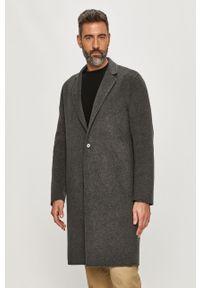 Szary płaszcz AllSaints casualowy, na co dzień
