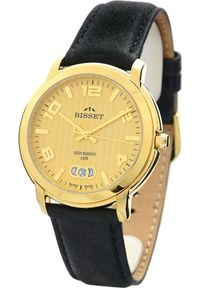 Zegarek Bisset Szwajcarski zegarek męski Bisset ELIZEUSZ BSCD59 Czarny. Kolor: czarny