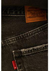 Levi's® - Levi's - Spódnica jeansowa. Okazja: na co dzień, na spotkanie biznesowe. Stan: podwyższony. Kolor: czarny. Materiał: jeans. Styl: biznesowy, casual