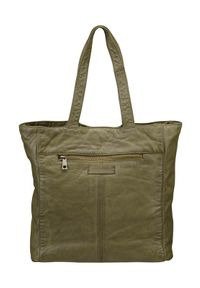 Zielona torebka DEPECHE. duża, na ramię, skórzana