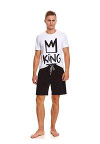 Bawełniana piżama z nadrukiem king