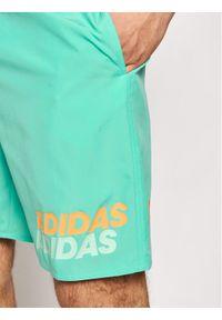 Adidas - adidas Szorty kąpielowe Classic-Length GM2259 Zielony Regular Fit. Kolor: zielony