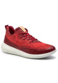 Czerwone buty sportowe ecco z cholewką, na co dzień