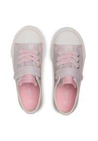 Nelli Blu - Trampki NELLI BLU - CP40-20487Z-2 Pink. Zapięcie: rzepy. Kolor: różowy. Materiał: skóra ekologiczna, materiał, guma. Szerokość cholewki: normalna. Wzór: aplikacja