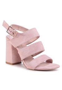 Różowe sandały R.Polański casualowe, na co dzień