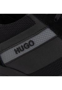 Czarne półbuty Hugo na co dzień, klasyczne
