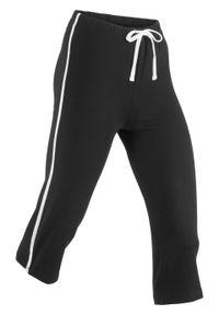 Czarne spodnie bonprix sportowe