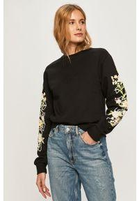 Czarna bluza Guess Jeans długa, z długim rękawem