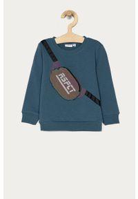 Niebieska bluza Name it bez kaptura, casualowa, z aplikacjami, na co dzień