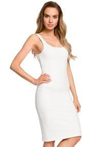 Sukienka MOE dopasowana, midi, na ramiączkach