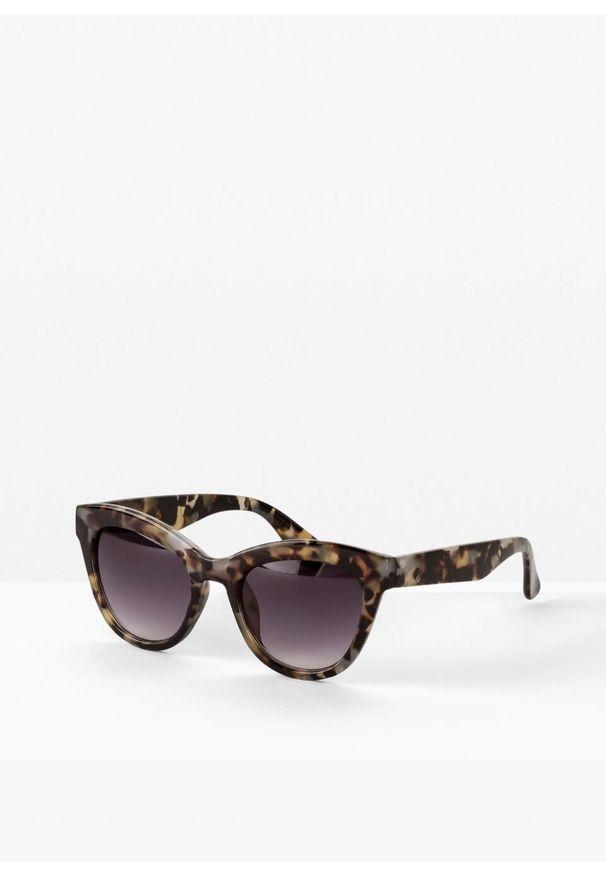 Okulary przeciwsłoneczne bonprix kremowo-beżowo-brązowy