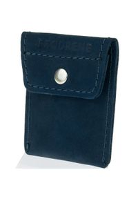 Niebieski portfel BRODRENE w kolorowe wzory