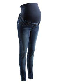 Dżinsy ciążowe SKINNY bonprix nocny niebieski denim. Kolekcja: moda ciążowa. Kolor: czarny