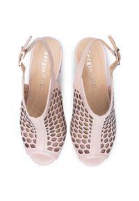 Różowe sandały Sergio Bardi