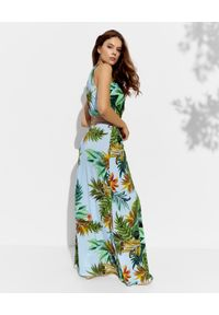 CRISTINAEFFE - Sukienka z kwiatowym printem. Kolor: zielony. Materiał: materiał. Wzór: nadruk, kwiaty. Sezon: lato. Długość: maxi #4