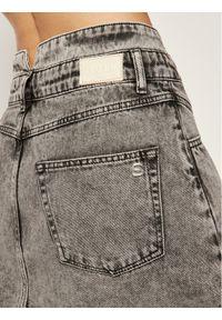 Silvian Heach Spódnica jeansowa Nidiole CVP20002GO Szary Regular Fit. Kolor: szary. Materiał: jeans