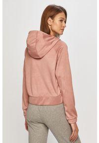 Różowa bluza rozpinana 4f na co dzień, raglanowy rękaw, z kapturem, casualowa
