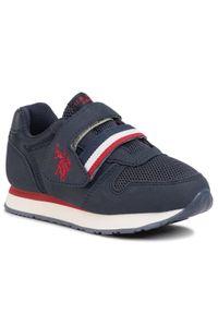 U.S. Polo Assn - Sneakersy U.S. POLO ASSN. - Evan NOBIK4247S0/TH1 Dkbl. Okazja: na spacer. Zapięcie: rzepy. Kolor: niebieski. Materiał: skóra ekologiczna, materiał. Szerokość cholewki: normalna