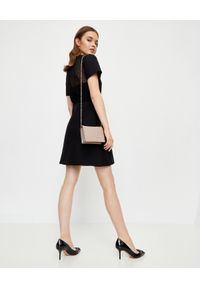 Czarna sukienka mini VALENTINO trapezowa, elegancka