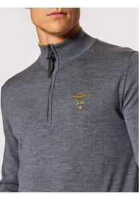 Aeronautica Militare Sweter 212MA1343L415 Szary Regular Fit. Kolor: szary