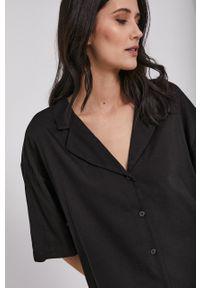 Dr. Denim - Koszula. Kolor: czarny. Materiał: denim. Długość rękawa: krótki rękaw. Długość: krótkie
