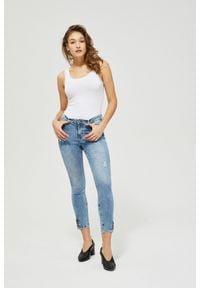 MOODO - Jeansy skinny z guzikami. Długość: długie
