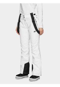 Białe spodnie narciarskie 4f Dermizax, na zimę