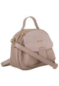 Skórzany kuferek damski j. różowy Badura T_D212JR_CD. Kolor: różowy. Materiał: skórzane. Styl: elegancki