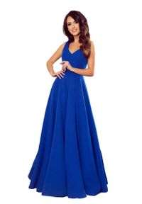 Niebieska sukienka wizytowa Numoco maxi
