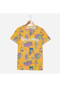 House - Koszulka z nadrukiem Rick i Morty - Pomarańczowy. Kolor: pomarańczowy. Wzór: nadruk