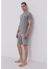 Emporio Armani Underwear - Emporio Armani - T-shirt piżamowy. Kolor: szary. Materiał: dzianina
