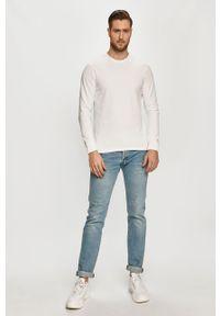 Biała bluza nierozpinana Only & Sons bez kaptura, na co dzień