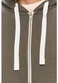 Szara bluza rozpinana PRODUKT by Jack & Jones casualowa, na co dzień, z kapturem
