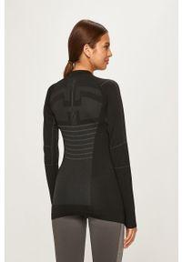 Czarna bluzka z długim rękawem Craft sportowa, z nadrukiem