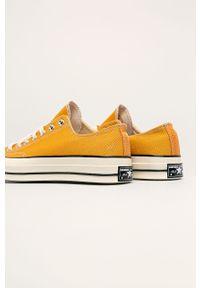 Żółte tenisówki Converse z cholewką, na sznurówki