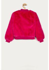 Różowa kurtka Guess Jeans na co dzień, bez kaptura, casualowa