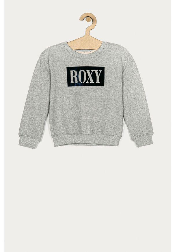 Szara bluza Roxy na co dzień, z nadrukiem, bez kaptura
